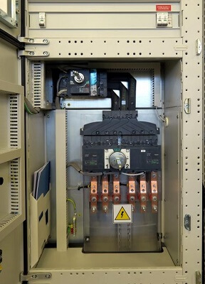 Low voltage switchboards inside